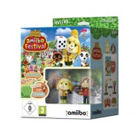 Animal Crossing: amiibo Festival With 2 Figures + 3 Cards Wii U