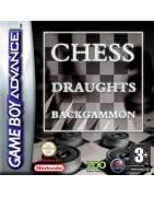 Board Game Classic Backgammon & Chess & Draughts Gameboy Advance