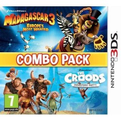 Madagascar 3 & The Croods Prehistoric Party Combo Pack 3DS