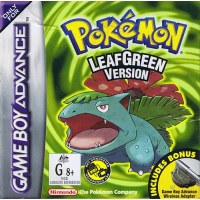 Pokemon Leaf Green  - With Adaptor Gameboy Advance